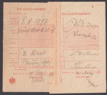 Adorf: 2 Postscheine Aus 1901, Versch. Vordrucke - Deutschland
