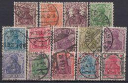 """Mi-Nr. 140/53, """"Germania"""", 1920/1, Sauberer Bedarfssatz, O - Briefe U. Dokumente"""