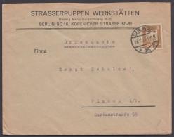 """Mi-Nr. 355, EF, Werbebrief """"Berlin, Strasserpuppen"""", 16.11.25 - Deutschland"""