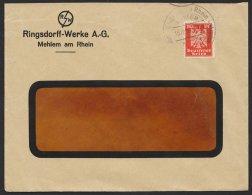 "Mi-Nr. 357, EF Mit Perfin ""rw"", Ringsdorff- Werke, Mehlem, 1925 - Briefe U. Dokumente"