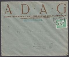 """Mi-Nr. 372, EF Auf Drucksache """"Weimar, Luxussprechmaschinen"""", 17.11.25 - Deutschland"""