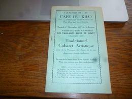 CB6 Programme Publicités  Locales Jumet Les Vaillants Bleus Cabaret Artistique 1973 - Programma's