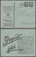 """Mi-Nr. 516, MeF Auf Dek. Werbeumschlag """"Gropius´sche Buchhandlung, Berlin"""", 1938 - Briefe U. Dokumente"""