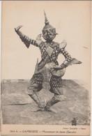 CPA CAMBODGE CAMBODIA Danseuse Mouvenment De Danse Garuda - Cambodia