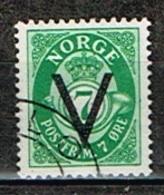 NORVEGE / Oblitérés/Used/1941 -  Série Courante  Surchargés V - Gebraucht