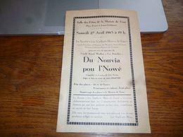 CB6 Programme Publicités  Locales Jumet Les Vaillants Bleus Livret 1963 - Programma's