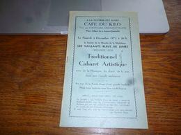 CB6 Programme Publicités  Locales Jumet Les Vaillants Bleus Livret 1972 - Programma's