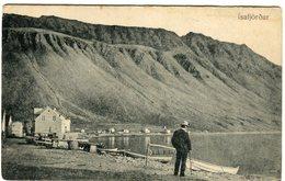 Iceland/Islande/Ijsland Vintage Postcard Ísafjörður Unused - Iceland