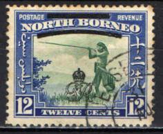 NORTH BORNEO - 1909 - Murut With  Blowgun - Overprinted In Black - USATO - North Borneo (...-1963)