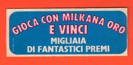 Milkana Formaggino Concorso A Premi Anni '70 Adesivo Pubblicità Adhesive Adhésif - Autocollants