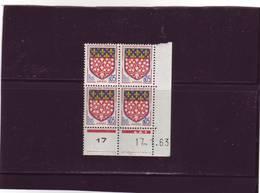 N° 1352 - 0,05F Blason D'AMIENS - C De C+D - 1° Tirage Du 8.1.63 Au 5.3.63 - 17.01.1963 - - 1960-1969
