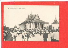 CAMBODGE  Cpa Animée Pagode Royale         4 Photo Antonio - Cambodia