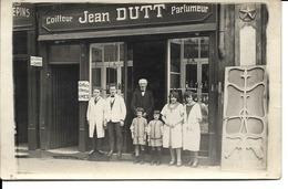 57 - Metz - Avenue Foch - Carte-photo Salon Coiffeur-parfumeur Jean Dutt (TTB) - Metz