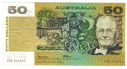 Australia 50 Dollars, 1985, Crisp VF+. - Decimal Government Issues 1966-...