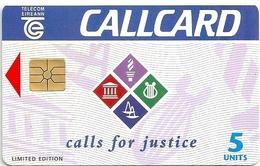 Ireland - Eircom - Calls For Justice - 5Units, 07.1995, 10.000ex, Mint (check Photos!) - Ireland