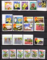 1985-87   Angola, Yv. 695 / 739**,(1986 Complet), Cote 48 €, Espace  Football Fleurs - Angola
