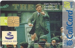 Ireland - Eircom - Cinema 100 - Michael Collins - 50Units, 10.1996, 60.000ex, Used - Ireland