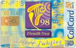 Ireland - Eircom - Fleadh Nua Silver Jubilee - 50Units, 04.1998, 50.000ex, Used - Ireland