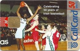 Ireland - Eircom - Irish Basketball - 50Units, 09.1998, 50.000ex, Used - Ireland