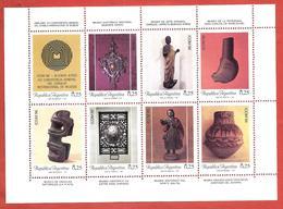 ARGENTINA MNH - 1987 14th International Museums Council General Conference - 8 X 0,25 ₳ Austral - Michel AR 1862-1869KB - Blocchi & Foglietti