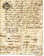 07.ARDECHE.CHASSIERS.DOCUMENT A DECHIFFRER.1780. - Manuscripts