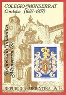 ARGENTINA MNH - 1987 The 300th Anniversary Of Monserrat College - 1 ₳ Austral - Michel AR BL35 - Blocchi & Foglietti