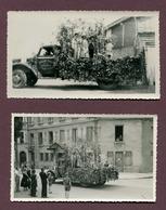 """SAINT-DIZIER  (52) : """" CAVALCADE - CAMION TRANSPORTS DAUGE Frères """"  2 Photos - Saint Dizier"""