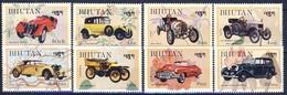 +B1410. Bhutan 1984. Cars. Michel 864-71. MNH(**) - Bhoutan