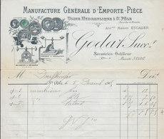 Escalier ,manufacture D'emporte-pièce à Sainte-Pôle ,Meurthe Et Moselle ,facture Illustrée De 1905 - France