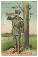 Erster WK Ein Deutscher Landsturm-Gruß 1915 Feldpost - Weltkrieg 1914-18