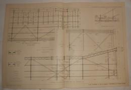 Plan Du Chemin De Fer Métropolitain De Paris. 1908 - Public Works