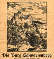 Die Burg Schwarzenberg / Druck, Entnommen Aus Kalender / 1933 - Livres, BD, Revues