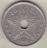 CONGO BELGE , 10 CENTIMES 1911 , ALBERT I - Congo (Belge) & Ruanda-Urundi