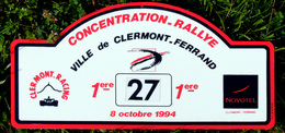 1° Rallye Concentration De Clermont-Ferrand 1994 Novotel Clermont-Racing - Rallye (Rally) Plates