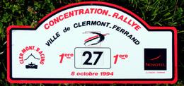 1° Rallye Concentration De Clermont-Ferrand 1994 Novotel Clermont-Racing - Plaques De Rallye