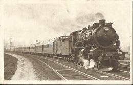 CPA Chemin De Fer Du Nord Train Paris Calais 298 Kilomètres En 3 H 15 - Treinen