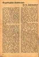 Erzgebirgische Stadtbrände Im 16.Jahrhundert / Druck, Entnommen Aus Kalender / 1933 - Books, Magazines, Comics