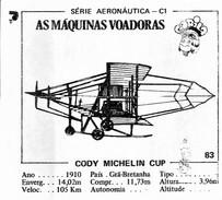 BUBBLE GUM / CHEWING GUM: GORILA - AERONAUTICAL SERIES / (2) FLYING MACHINES - 083 CODY MICHELIN CUP - Vieux Papiers