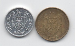 Moldavie Moldova : Lot De 2 Petites Pièces 10 Bani 2015 + 50 Bani 2008 - Moldova