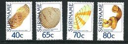 SURINAME MNH - 1984 Sea Shells - Vari Cent - Michel SR 1071 1074 - Suriname