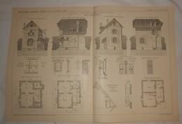 Plan De Cottage D'Artisan à Saint-Trond En Belgique. M. Ach. Foucart, Architecte. 1908 - Travaux Publics