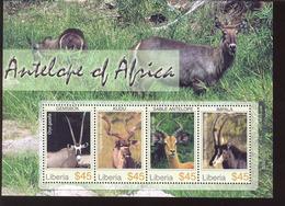 LIBERIA  2382  MINT NEVER HINGED SOUVENIR SHEET OF ANIMALS ; ANTILOPE ( 0519 - Zonder Classificatie