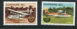 SURINAME MNH - 1984 The 40th Anniversary Of I.C.A.O.  - 35 + 65 Cent - Michel SR 1080 1081 - Suriname