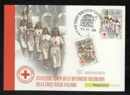 ISTITUZIONE CORPO DELLE INFERMIERE VOLONTARIE  DELLA CROCE ROSSA ITALIANA - 2008 - CARTOLINA MAXIMUM - Croce Rossa