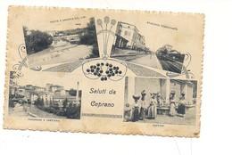 M5489 LAZIO Ceprano Roma Vedutine Stazione Ferroviaria 1924 VIAGGIATA. - Italia