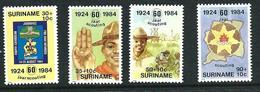SURINAME MNH - 1984 The 60th Anniversary Of Scouting In Surinam - Vari Cent - Michel SR 1094 1097 - Suriname