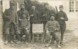 CARTE PHOTO - 16 REGIMENT D' INFANTERIE - GROUPE DE POILUS DE LA HAUTE-LOIRE - 1915 - WWI. - Guerre 1914-18