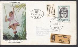 AUTRICHE - 1966 - Belle Enveloppe Illustrée, En Recommandé De Vienne Pour Zurich + Verso - B/TB - - FDC