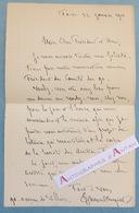 L.A.S 1901 Edmond TURQUET Politique & Collectionneur De Tableaux Né à Senlis - Lettre Autographe - Artistes Français - Autographes