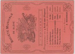 Bléré 37 - Programme Du Concert De La Société Musicale Du 4 Avril 1920, Chef A. Rousseau - Programs